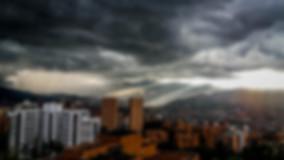 rain and sun in Medellin