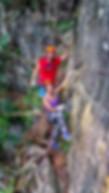 Via ferrata rock climbing Rio Claro