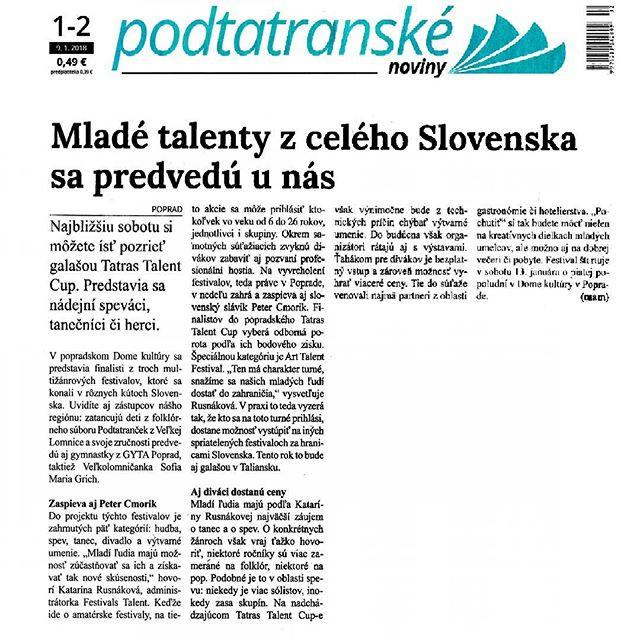 Článok Podtatranských novín