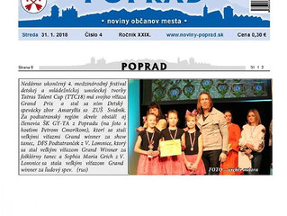 Výsledky Tatras Talent CUP 2018