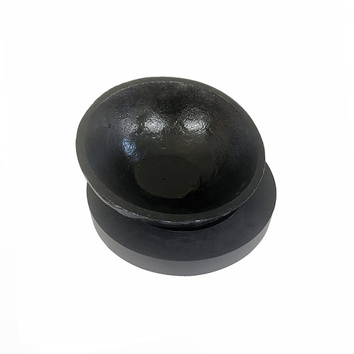 7 INCH CAST IRON PITCH BOWL AND PAD