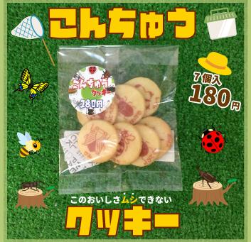 「こんちゅうクッキー」販売中!