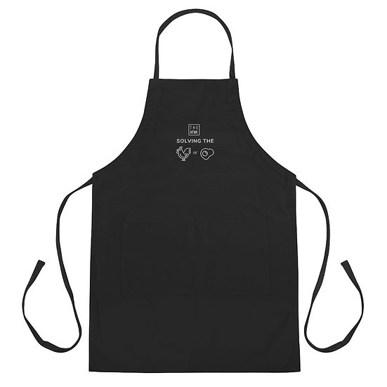Chicken or Egg - Embroidered Apron