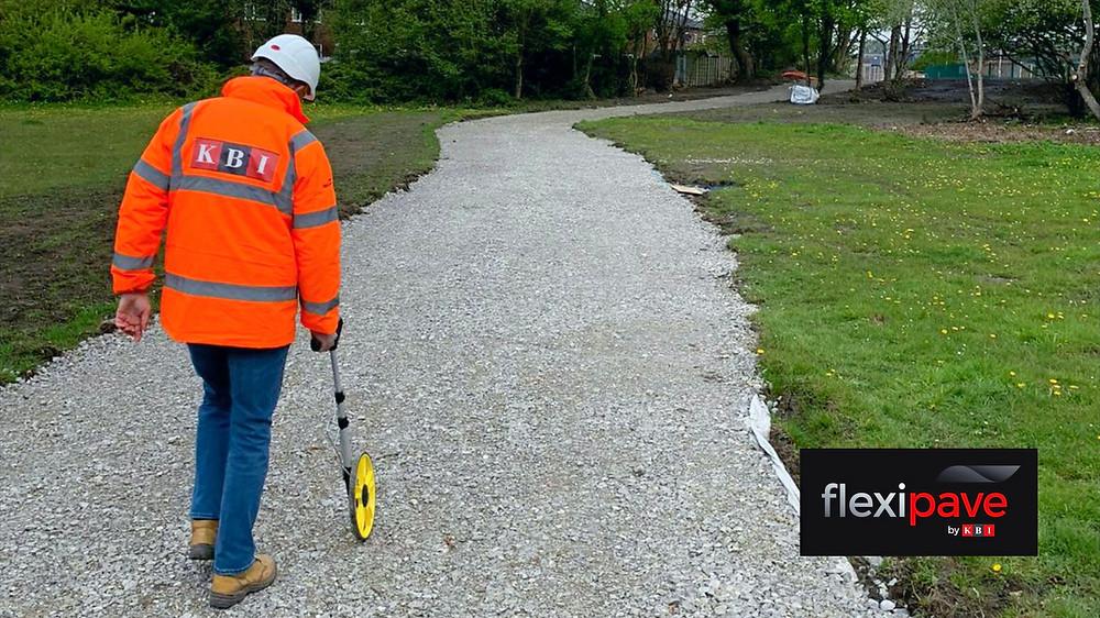 KBI Flexipave measurements at Swinton Greenway Salford