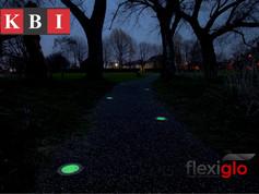 KBI Flexiglo discs installed into Flexipave surface