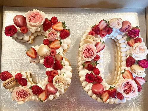 Number Cream Tart Cake