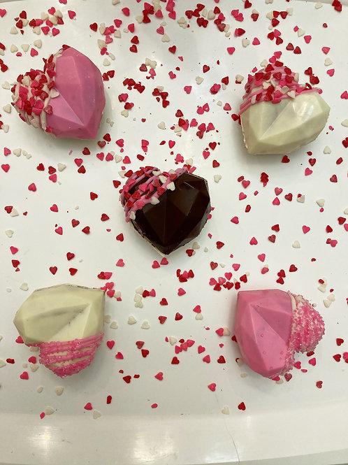 Geometric Hearts Hot Chocolate Bombs