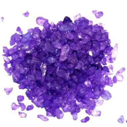 Purple rock candy crystals
