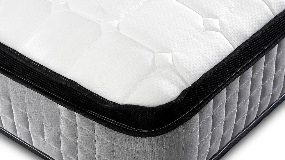 Grey Pillow Top 1000 Pocket Mattress in 4 Sizes