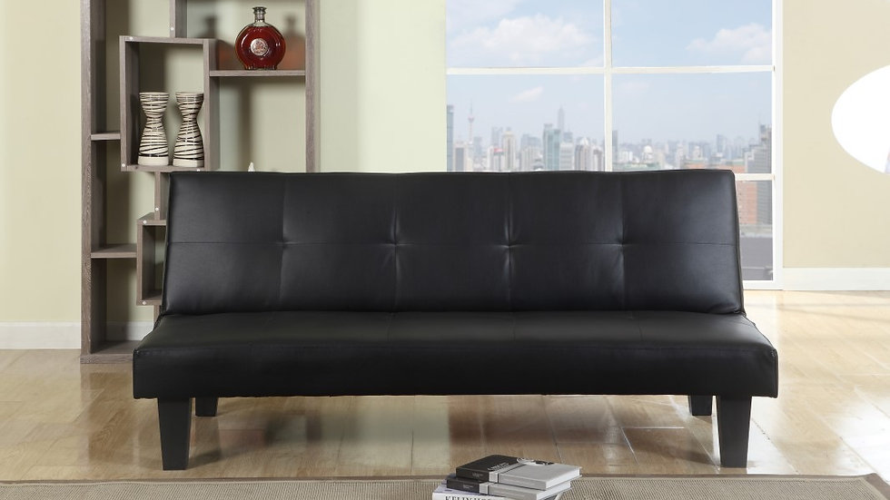 Franklin Contemporary Faux Leather Sofa Bed