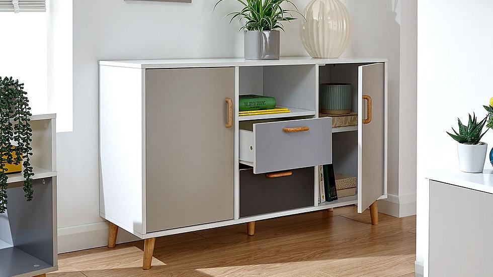Modern Cubic Design Wooden Feet Scandi Inspired Living Room Range Monochrome