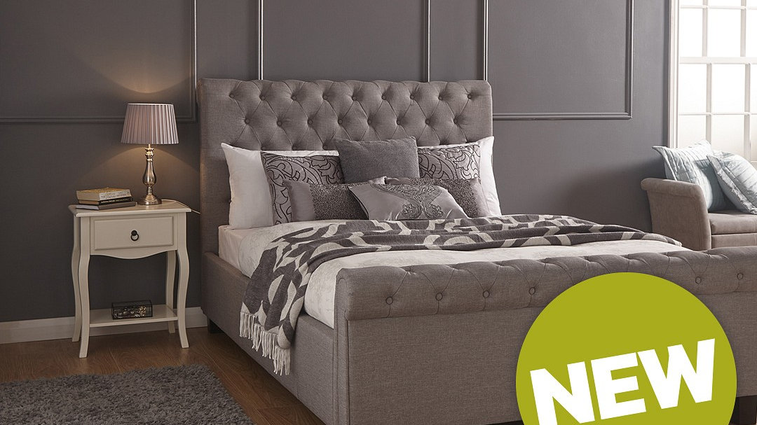 Peachy 2018 Fabric Grey Ottoman Storage Side Lift Bed In 4Ft6 Double 5Ft King Size Machost Co Dining Chair Design Ideas Machostcouk