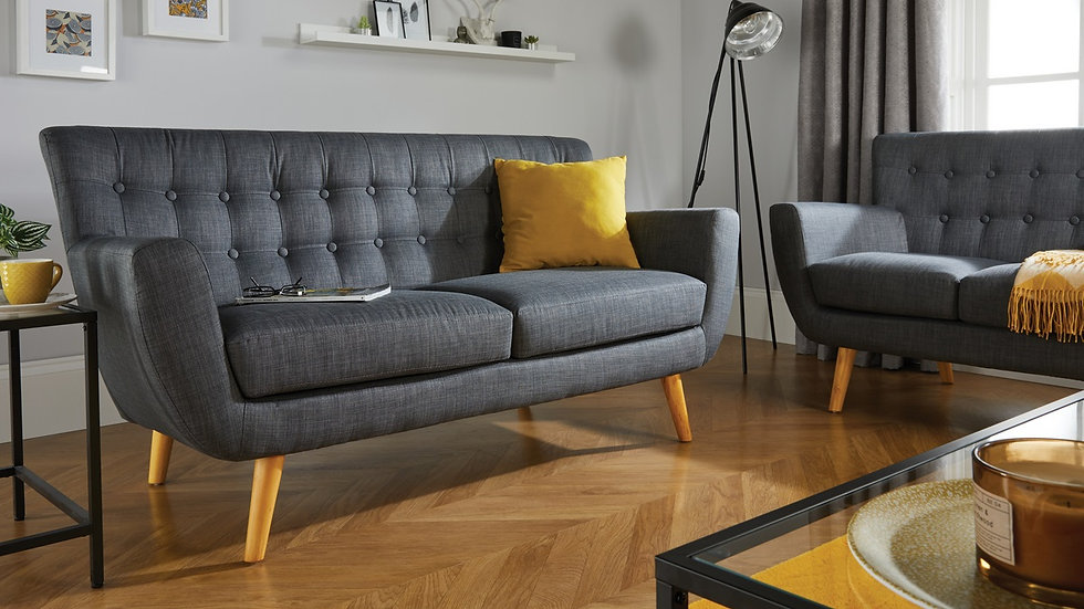 Contemporary Loft Sofa with a hint of Scandinavian-inspired Retro Styling