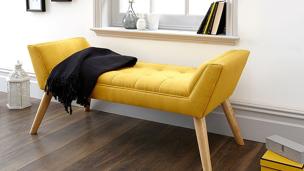 Milan Deep Cushioned Retro-Style Upholstered Bench