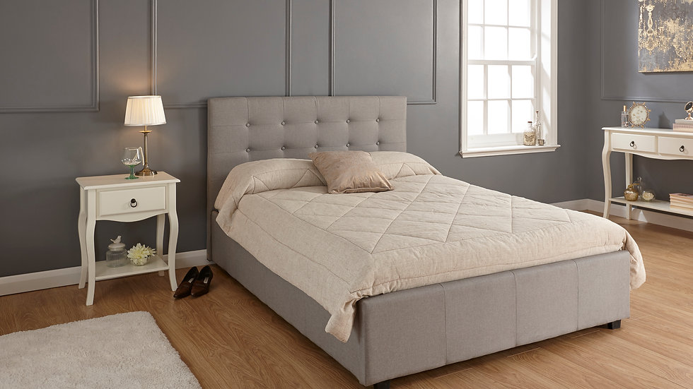 Regal Fabric End Lift Ottoman Bed Available In Grey
