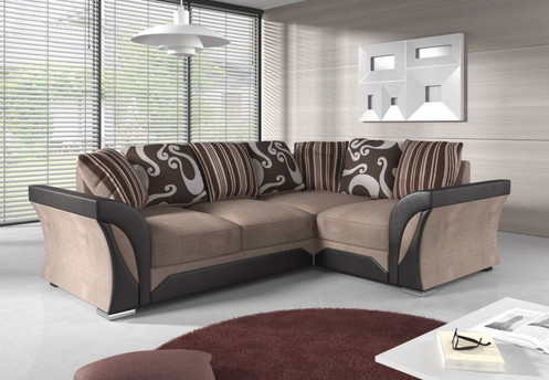 Modern Corner Sofa Fashionable Designer Look - Available In Two Colours