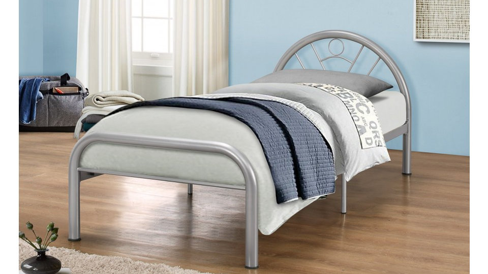 3FT Minimalist Steel Finish Single Size Bed Frame