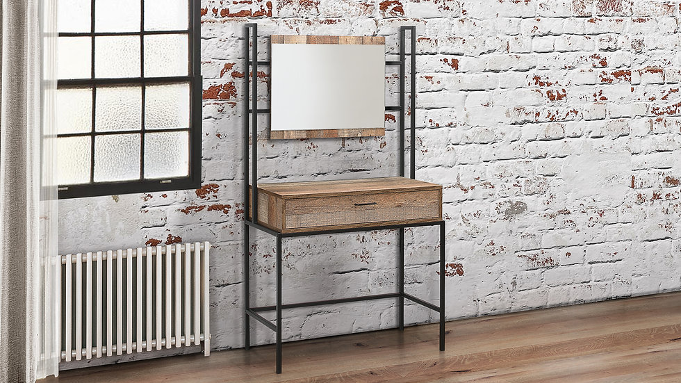 New Modern Industrial Chic Inspired Dressing Table & Mirror