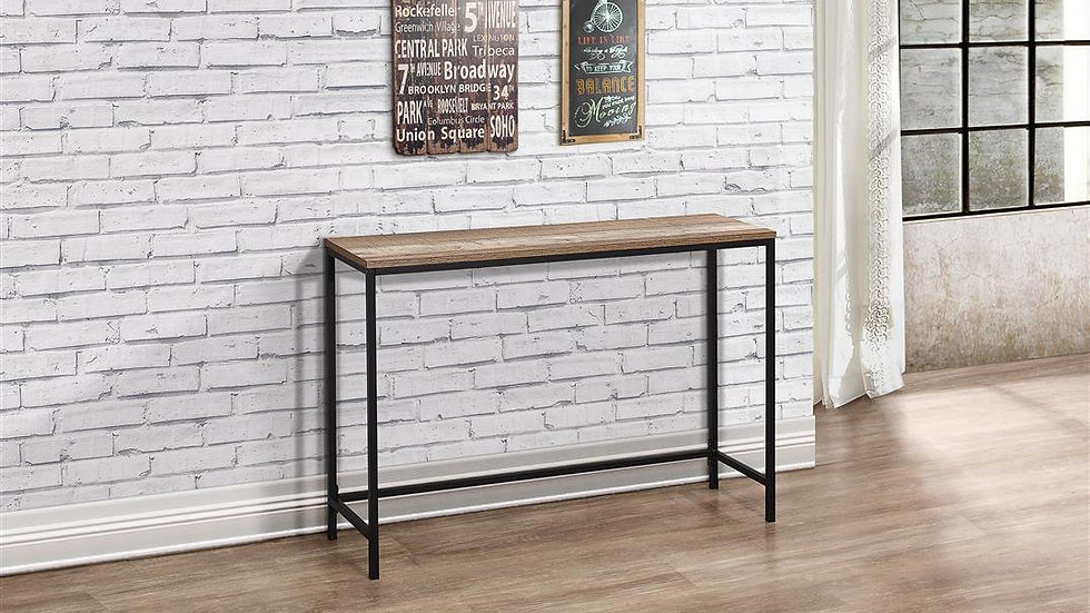 Industrial Wood and Metal Effect Console Table