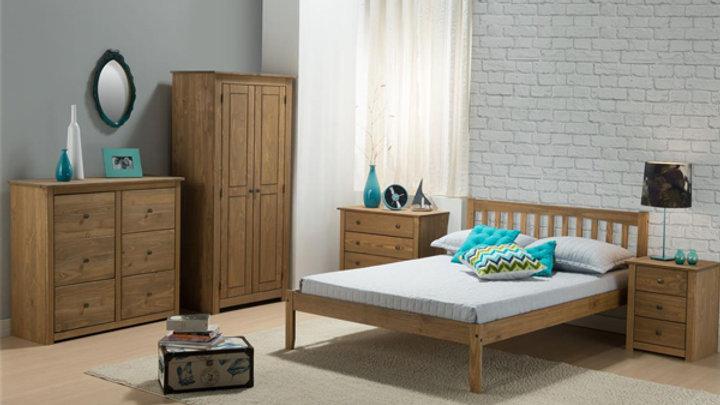 NEW Beautiful Rustic Wood Bedroom Furniture