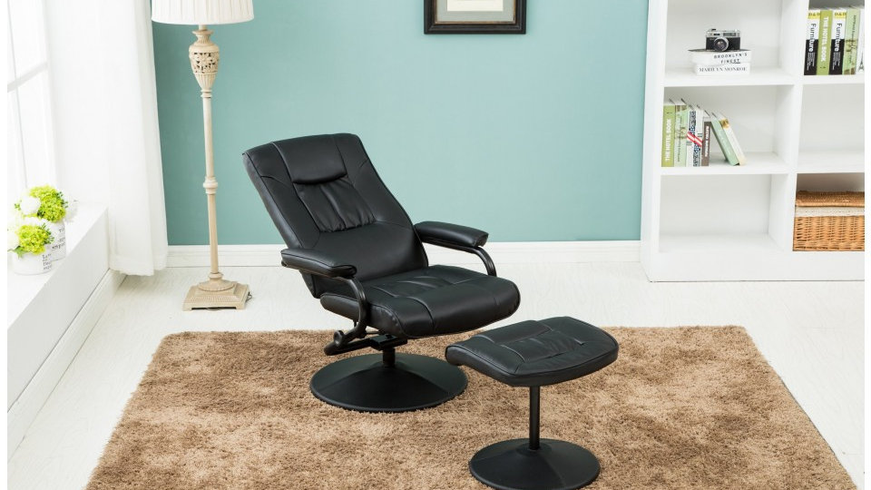 Memphis Swivel Chair and Footstool