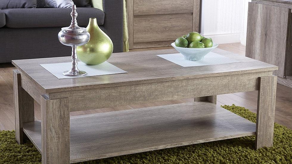 Unique Oak Effect Luxury Coffee Table Stylish Living Room Furniture