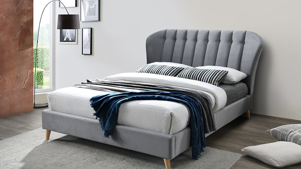 NEW Luxurious Winged and Pleated Bedframe available in 4FT 4FT6 5FT 2 Colours!!