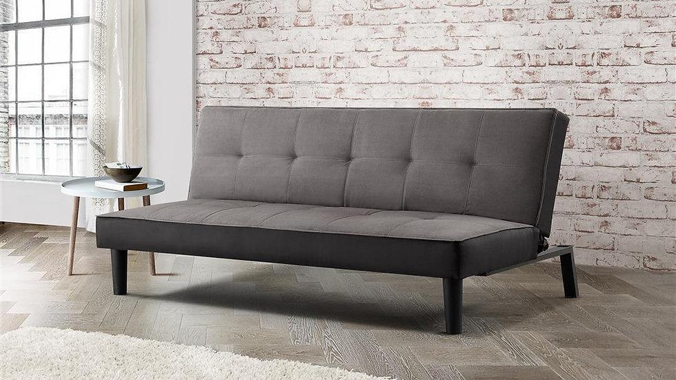 Minimalistic Aurora Grey Velvet Fabric Sofa Bed