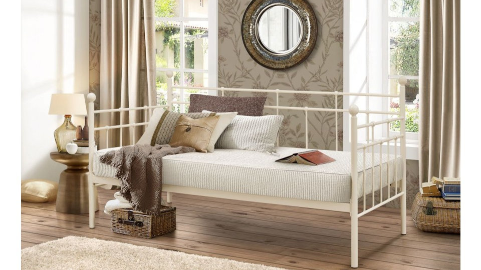 Lyon 3FT Elegantly Constructed Stunning Day Bed Sophisticated Cream Finish