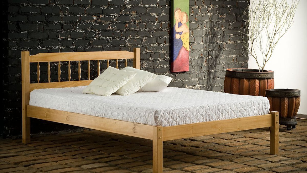Santos Double Bolted Pine Bed