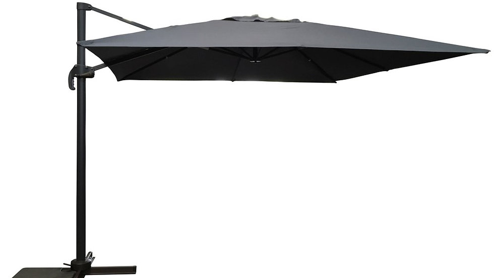 NEW Stylish Round or Square 3m & 3.5m Table Parasols available in Beige or Grey