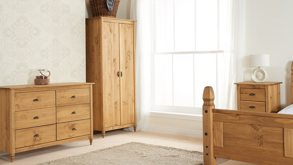 NEW Traditional Solid Waxed Pine Finished Bedroom Furniture