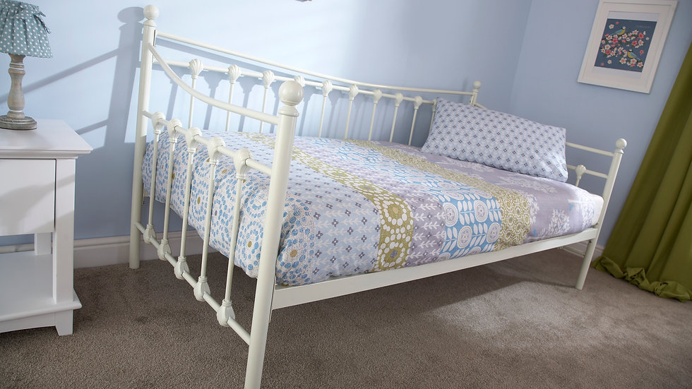 3FT Single Memphis Metal Bed With Trundle Options