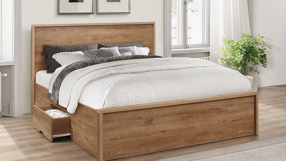 New Rustic Oak Farmhouse Inspired Bedframe 4FT 4FT6 5FT