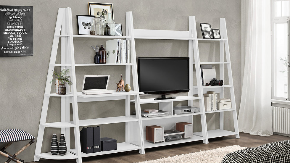 Contemporary Dayton Wooden Shelving Unit The Perfect Storage Solution 4 Colours