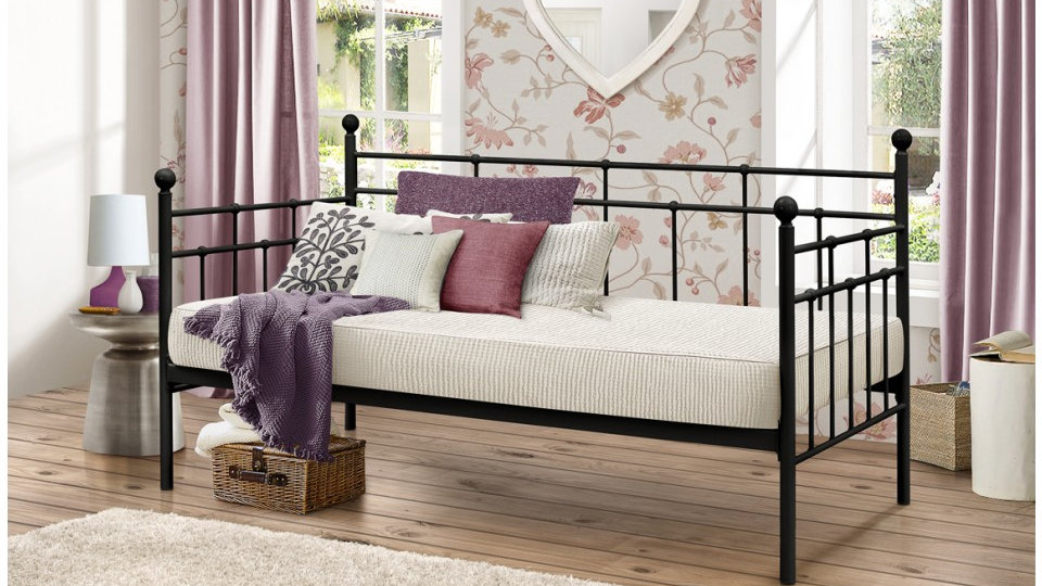 Lyon 3FT Elegantly Constructed Stunning Day Bed Sophisticated Black Finish