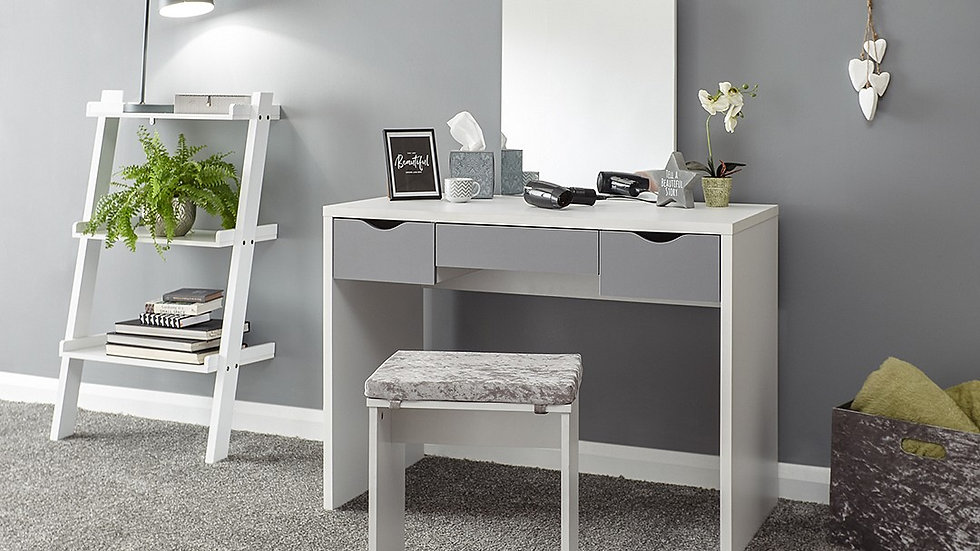 Elizabeth Dressing Table Set with 3 Drawer Storage available in 2 Colours