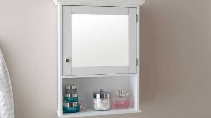 Modernistic Colonial Shaker Style Wooden Bathroom Mirrored Cabinet