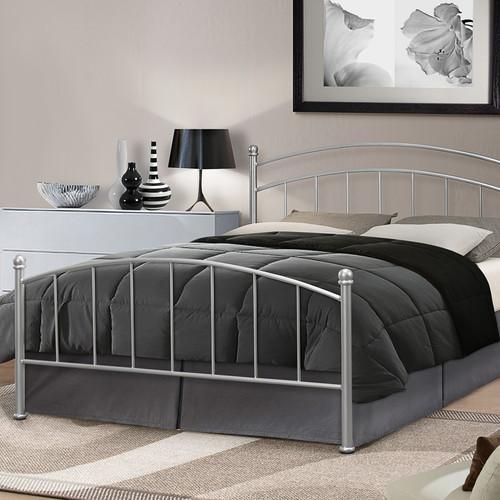 metal frame bed steel curved white or silver - Steel Frame Bed