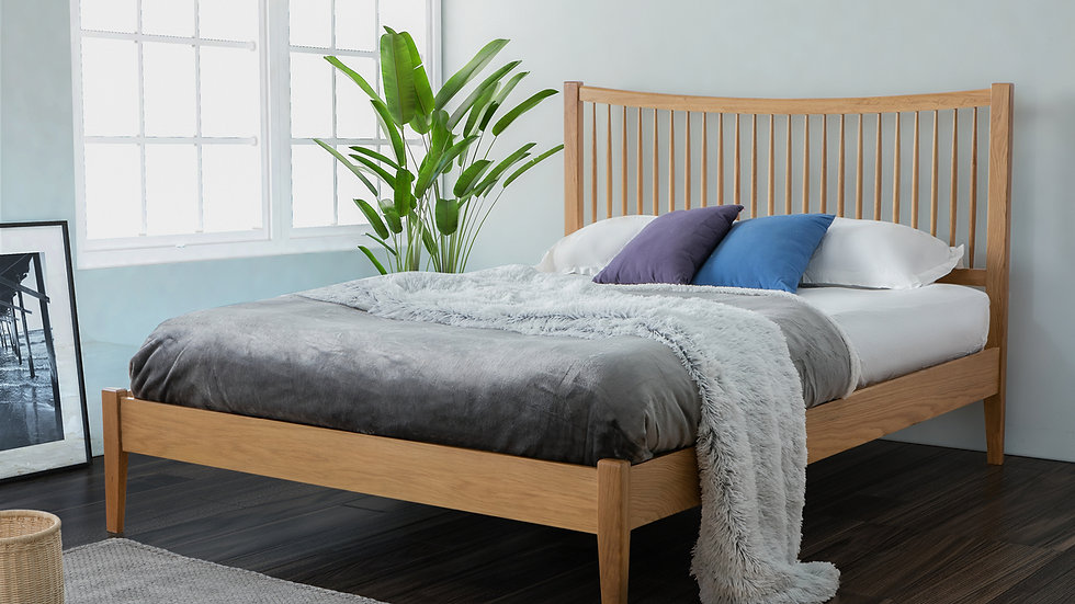 Berwick Solid Oak Bed Frame available in 4FT6 & 5FT