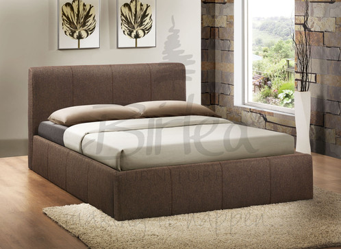 This beautiful fabric ottoman storage bed is the perfect practical addition  to your bedroom. - High Quality Gas Lift Storage Ottoman Bed FTA Furnishing
