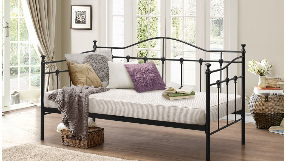 Fantastic Day Bed Stunning Decorative Castings 3FT Single Colour/Mattress Option