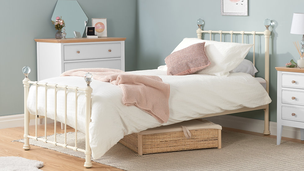Beautiful Classic Jessica Steel Frame Bed