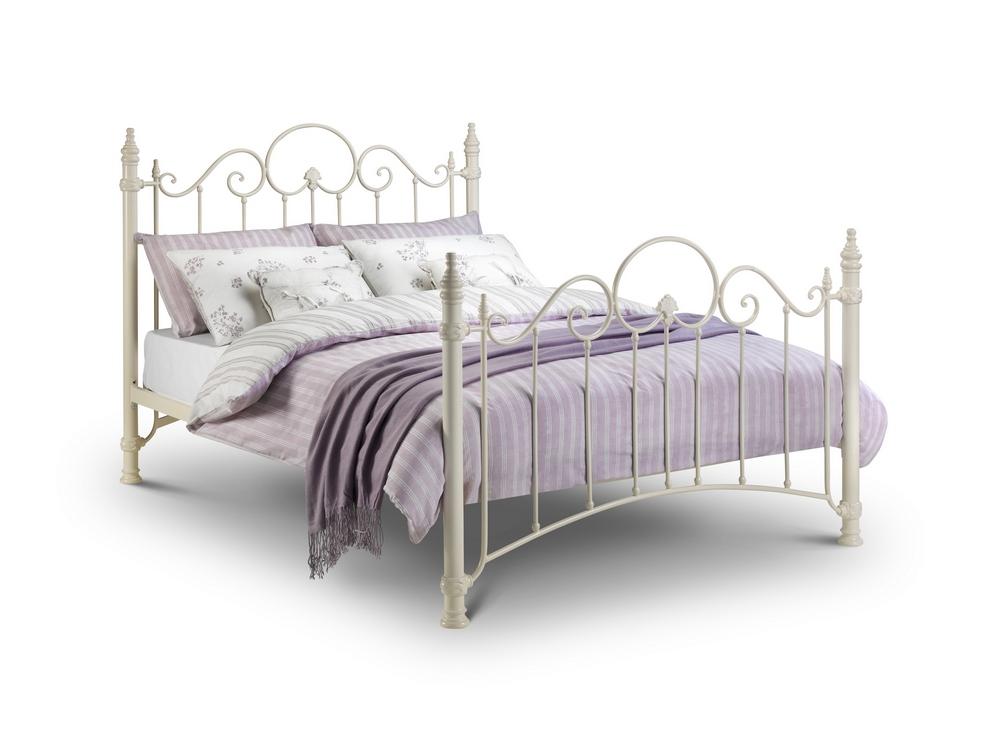 Hübschen Viktorianischen Stil Kunstvoll Prinzessin Bett in Steingrau ...