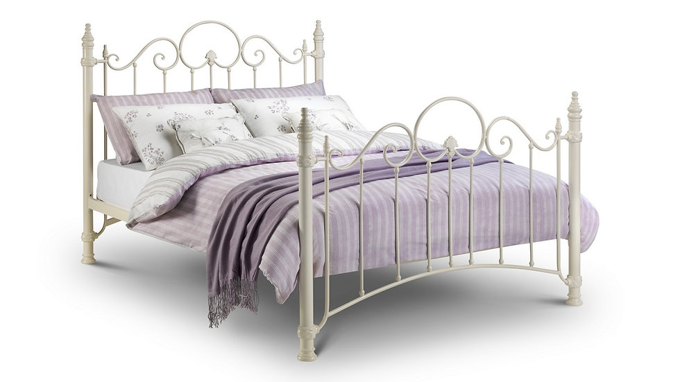 Florence Stone White Victorian Princess Style Bed
