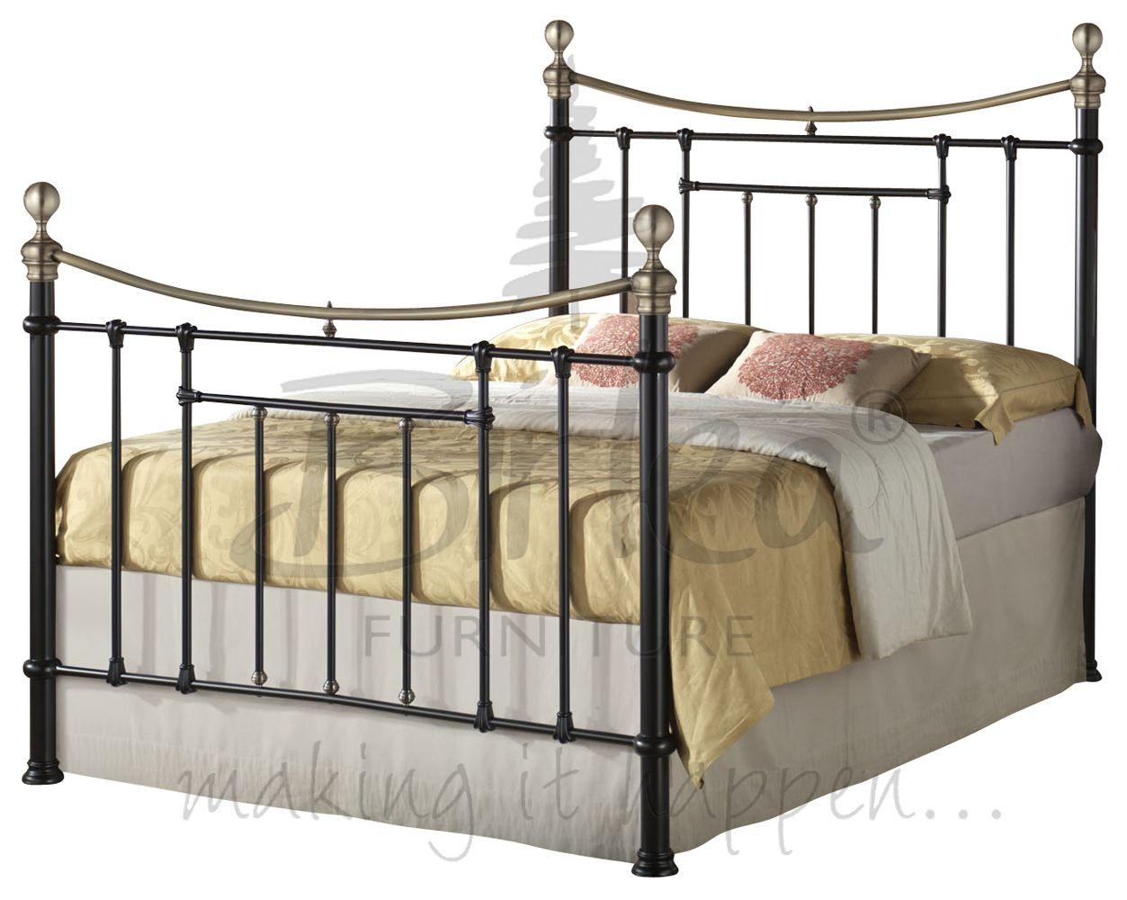 klassisch vintage viktorianischer stil metall bett 1 4m und 1 5 m antik messing ebay. Black Bedroom Furniture Sets. Home Design Ideas