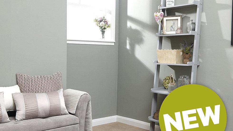Minimalist Ladder Style Wall Rack Grey Perfect Stylish Storage Solution