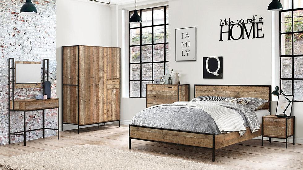 NEW Rustic Urban Industrial Wooden Chic Bedroom Interior Range