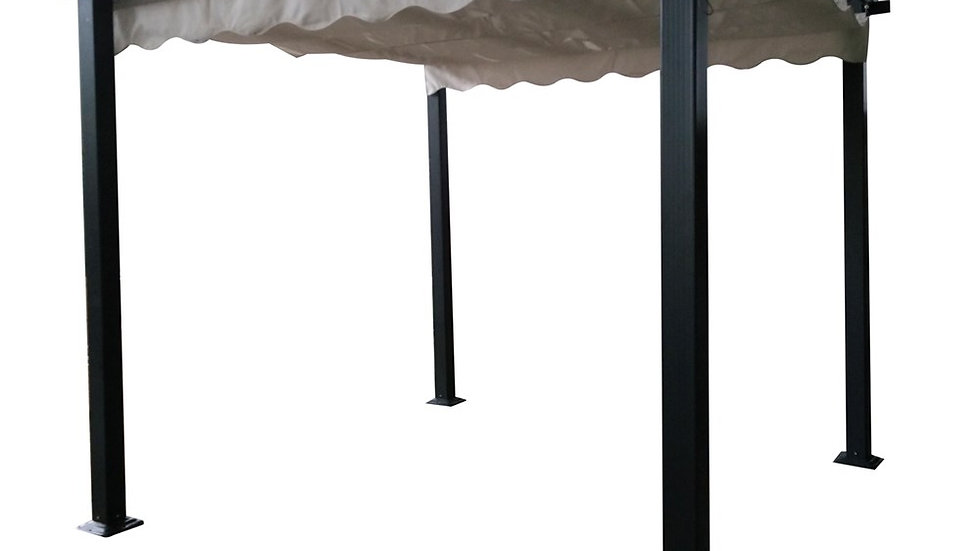 New Luxury Garden Pergola Square With Grey Canopy 3*3m