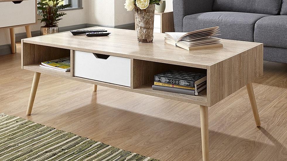 New Retro-Inspired Oak Effect Coffee Table